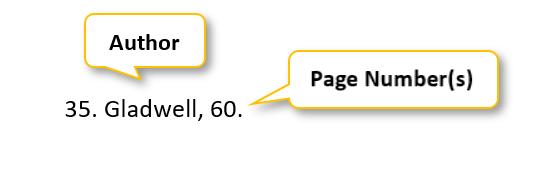 35 period Gladwell comma 60 period