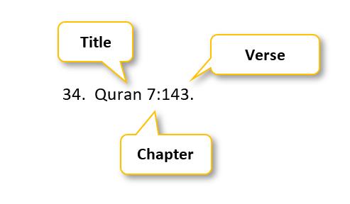 34 period  Quran 7:143 period