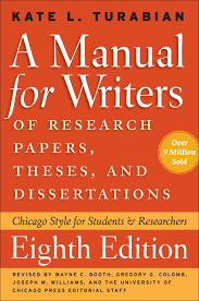 """A Manual for Writers"" by Kate Turabian book cover"