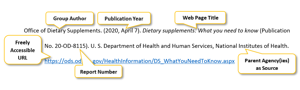 "Office of Dietary Supplements period parenthesis 2020 comma April 7 parenthesis period Dietary supplements colon What you need to know parenthesis Publication No period 20-OD-8115 parenthesis period U period S period Department of Health and Human Services comma National Institutes of Health period  <a href= ""https://ods.od.nih.gov/HealthInformation/DS_WhatYouNeedToKnow.aspx "" </a>"
