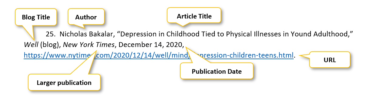 25 period  Nicholas Bakalar comma  quotation mark Depression in Childhood Tied to Physical Illnesses in Yound Adulthood comma quotation mark  Well  parenthesis blog parenthesis  comma New York Times comma December 14 comma 2020 comma https://www.nytimes.com/2020/12/14/well/mind/depression-children-teens.html period