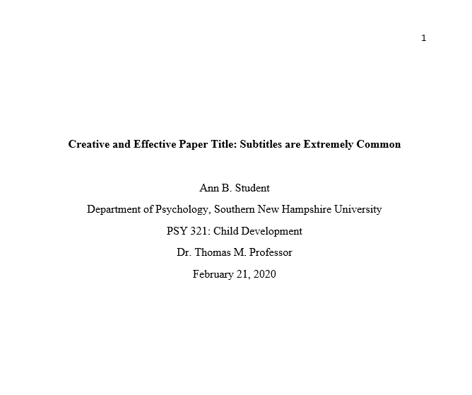 How to write an abstract in apa format for questions and answers