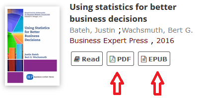 Screenshot of business expert press