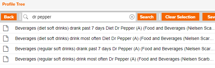 Screenshot of a search for consumer behavior