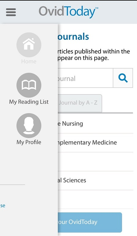 Screenshot of the OvidToday app
