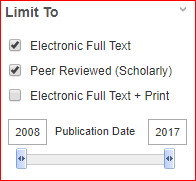 Screenshot of the publication date area in multisearch