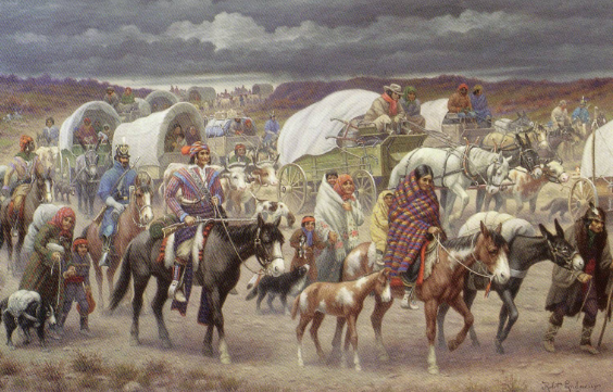Trail of Tears - Painting by Robert Lindneux