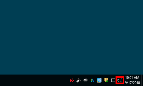 Volume Adjust Symbol On Windows Taskbar