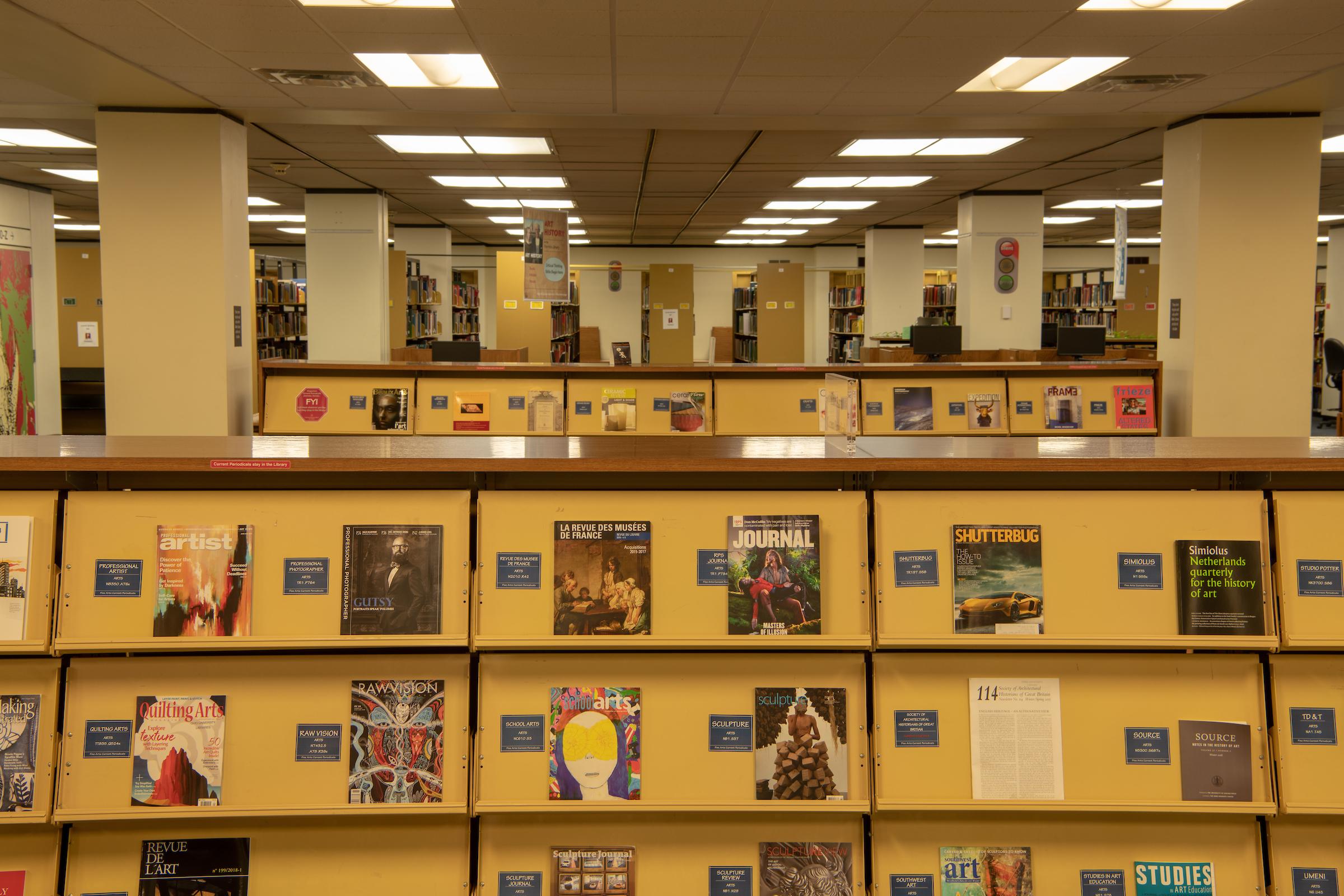 Fine Arts Floor, Alden Library