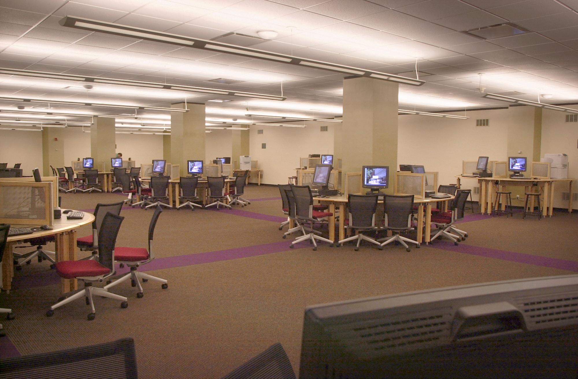 Second Floor, Computers, Alden Library