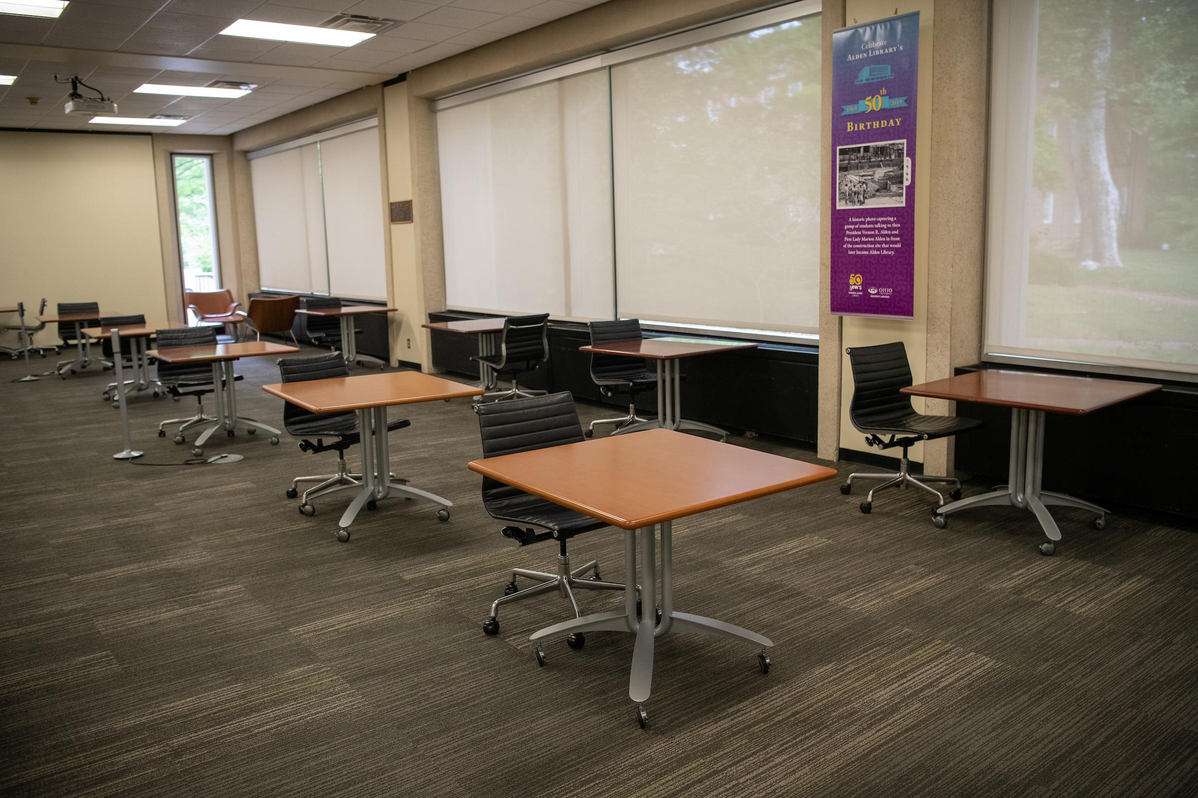 Fourth Floor, Desks, Alden Library