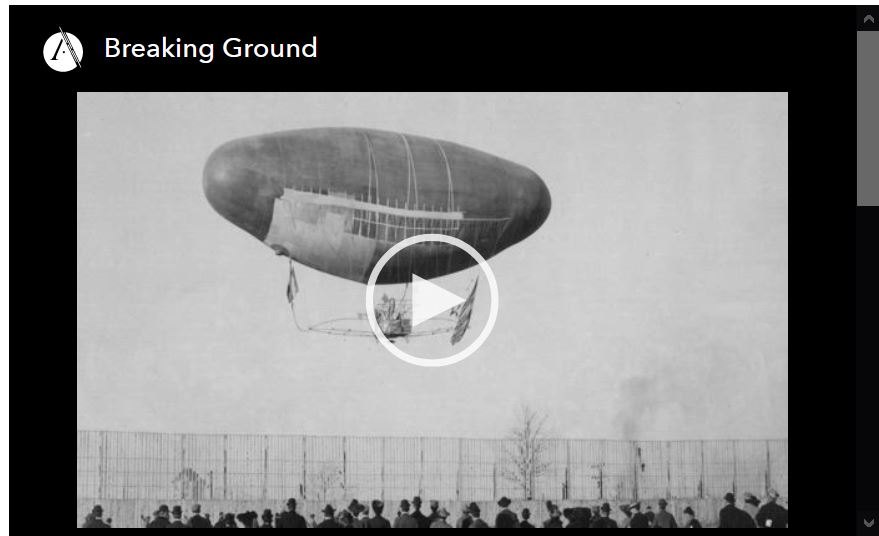 Screen shot of video player for Breaking Ground, episode 1 of the Asian Americans PBS documentary series.