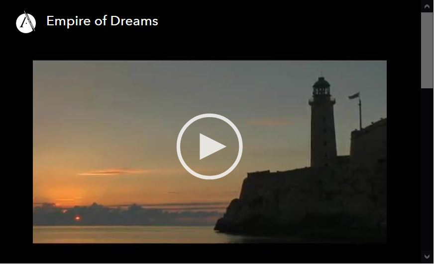 Screen shot of video player for Empire of Dreams, episode 2 of the Latino Americans, PBS documenary series.
