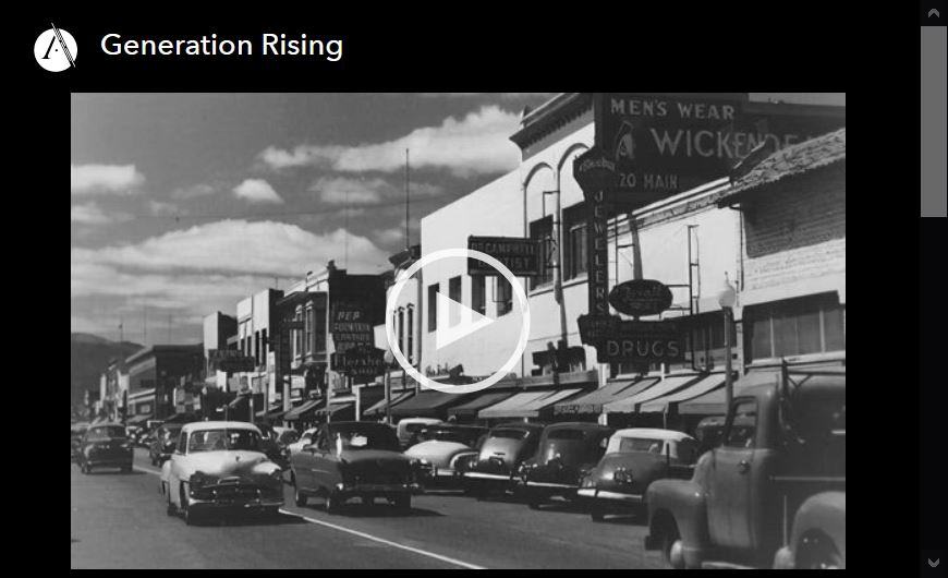 Screen shot of video player for Generation Rising, episode 4 of the Asian Americans PBS documentary series