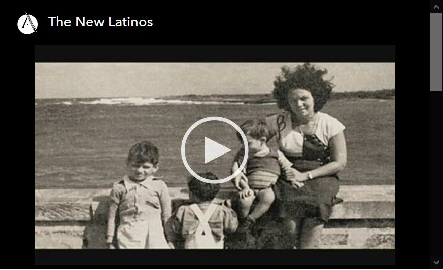 Screen shot of video player for The New Latinos, episdoe 4 of the Latino AMericans PBS documentary series.