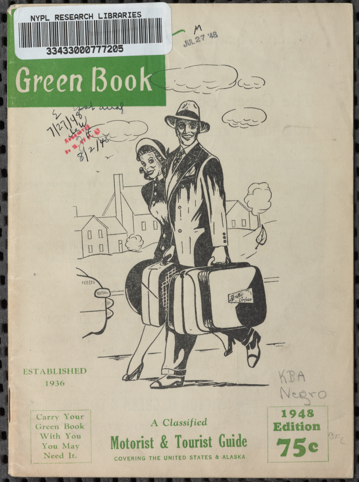 Green Book 1948 Edition Cover