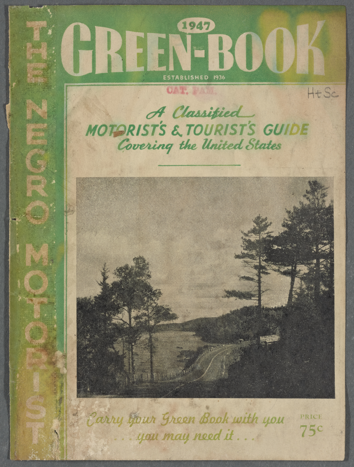 Green Book 1947 Cover