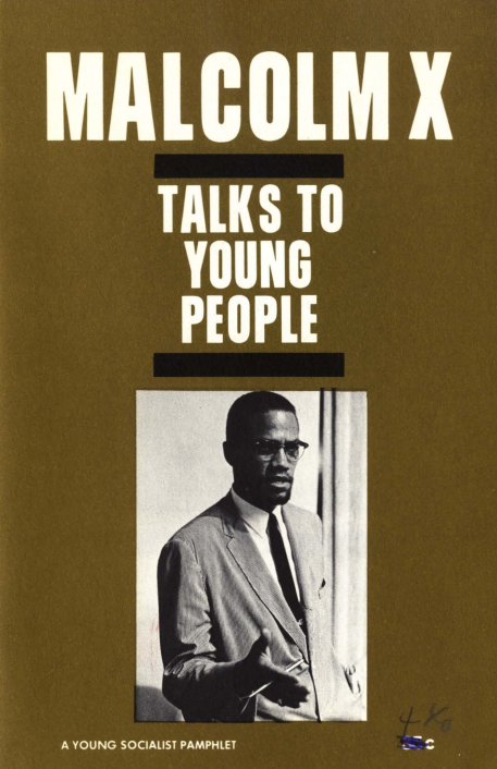Malcom X Talks to Young People (book cover)