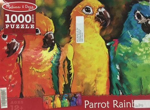 parrot rainbow puzzle