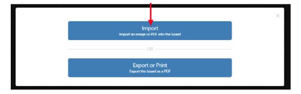 Choose Import screenshot
