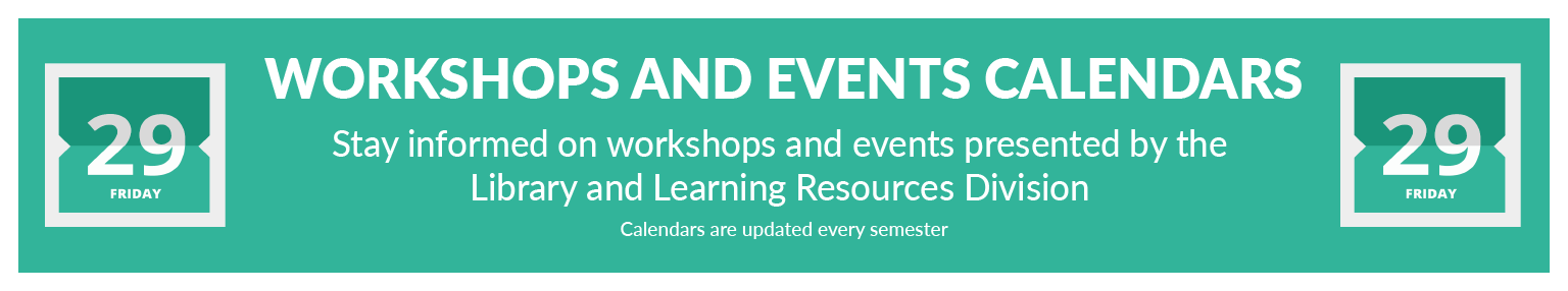 Workshops and Events Calendar