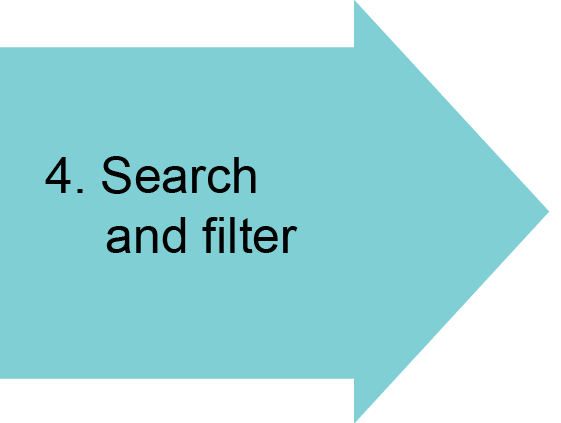 4. Search and filter