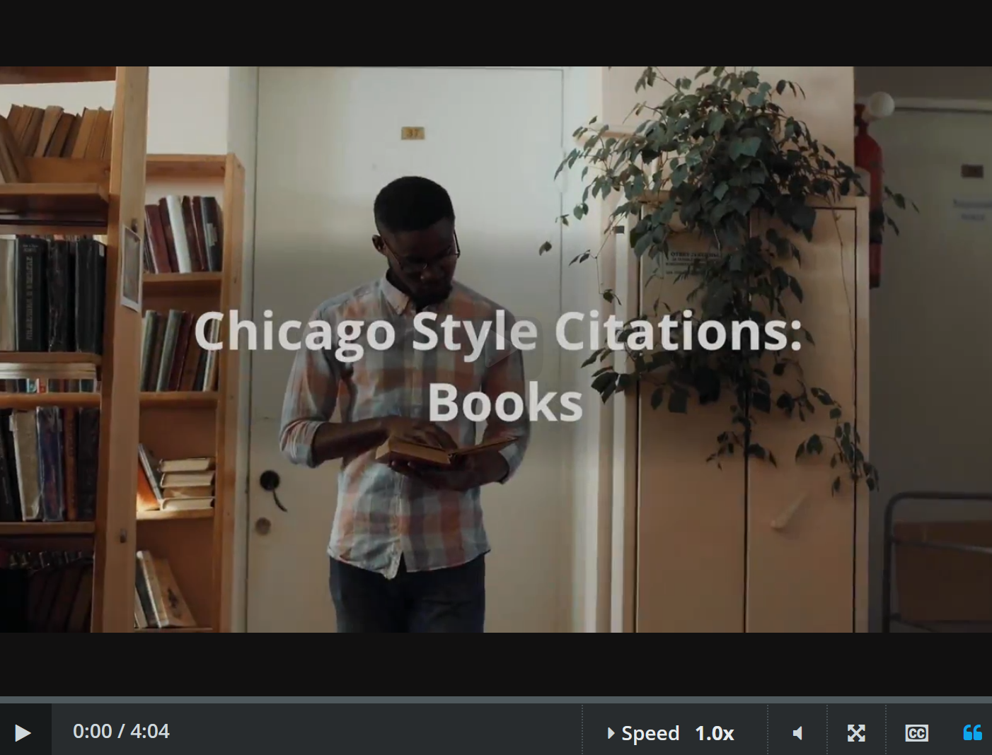 chicago style: books and ebooks video