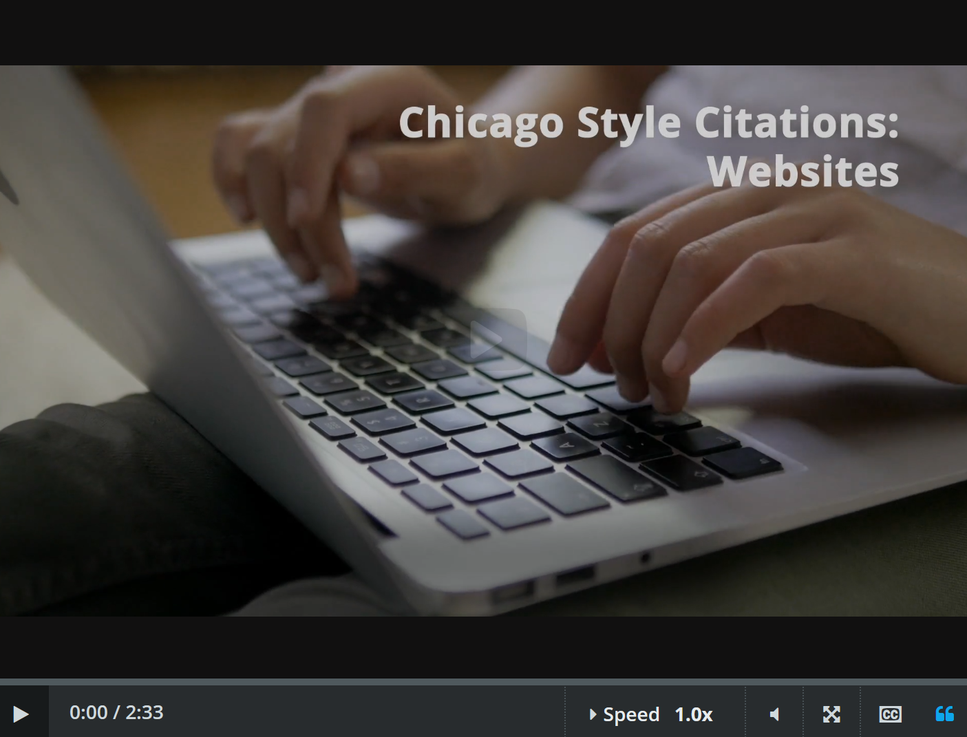 chicago style: websites video