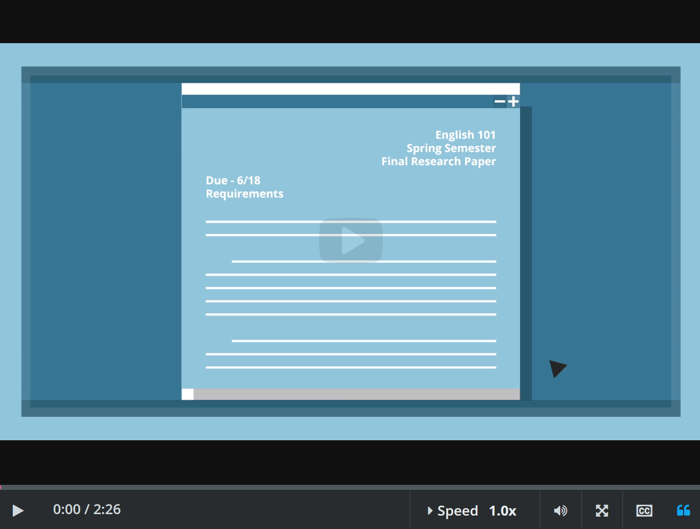 Research Process Video