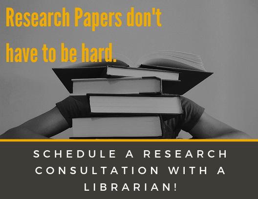 Research Papers don't have to be hard. Schedule a research consultation with a librarian!