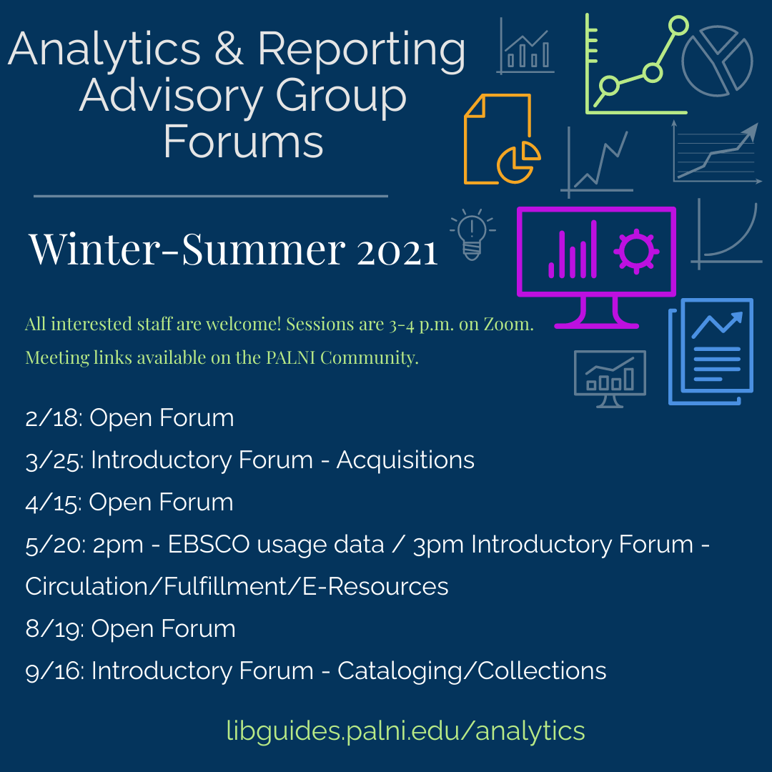 graphic list of webinar dates for summer 2021; details in text below