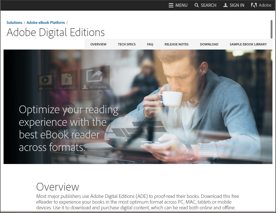 Adobe Digital Editions and Overdrive ebooks