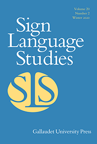 Sign Language Studies Journal Cover