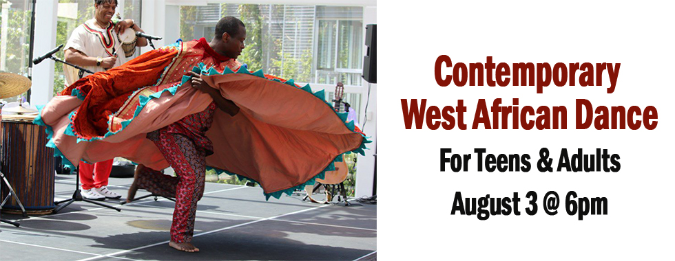 West African Dance August 3 at 6