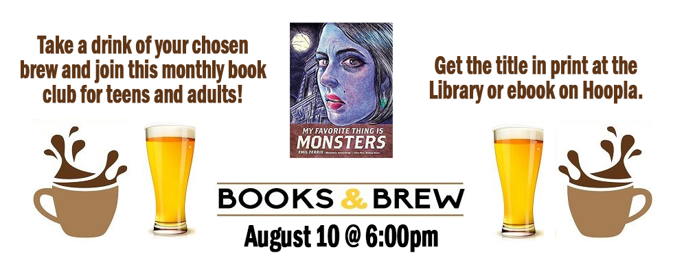 books and brew August 10 at 6