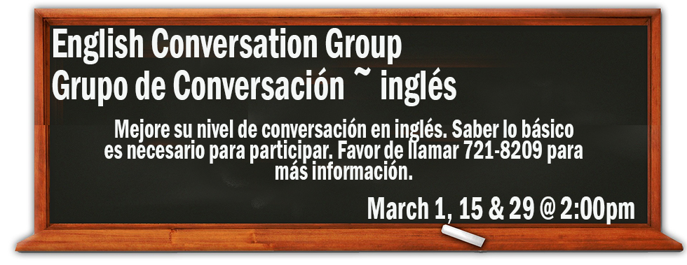 English Conversation Group March 1