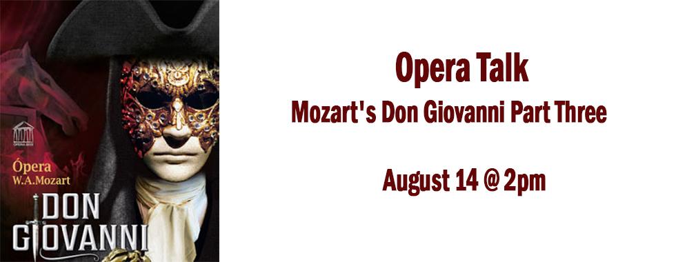 Opera talk August 14 at 2