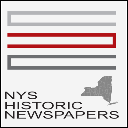 Logo for the New York State Historical Newspapers