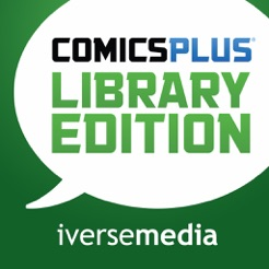 Logo for Comics Plus Library Edition