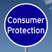 Consumer Protection written on a blud sign