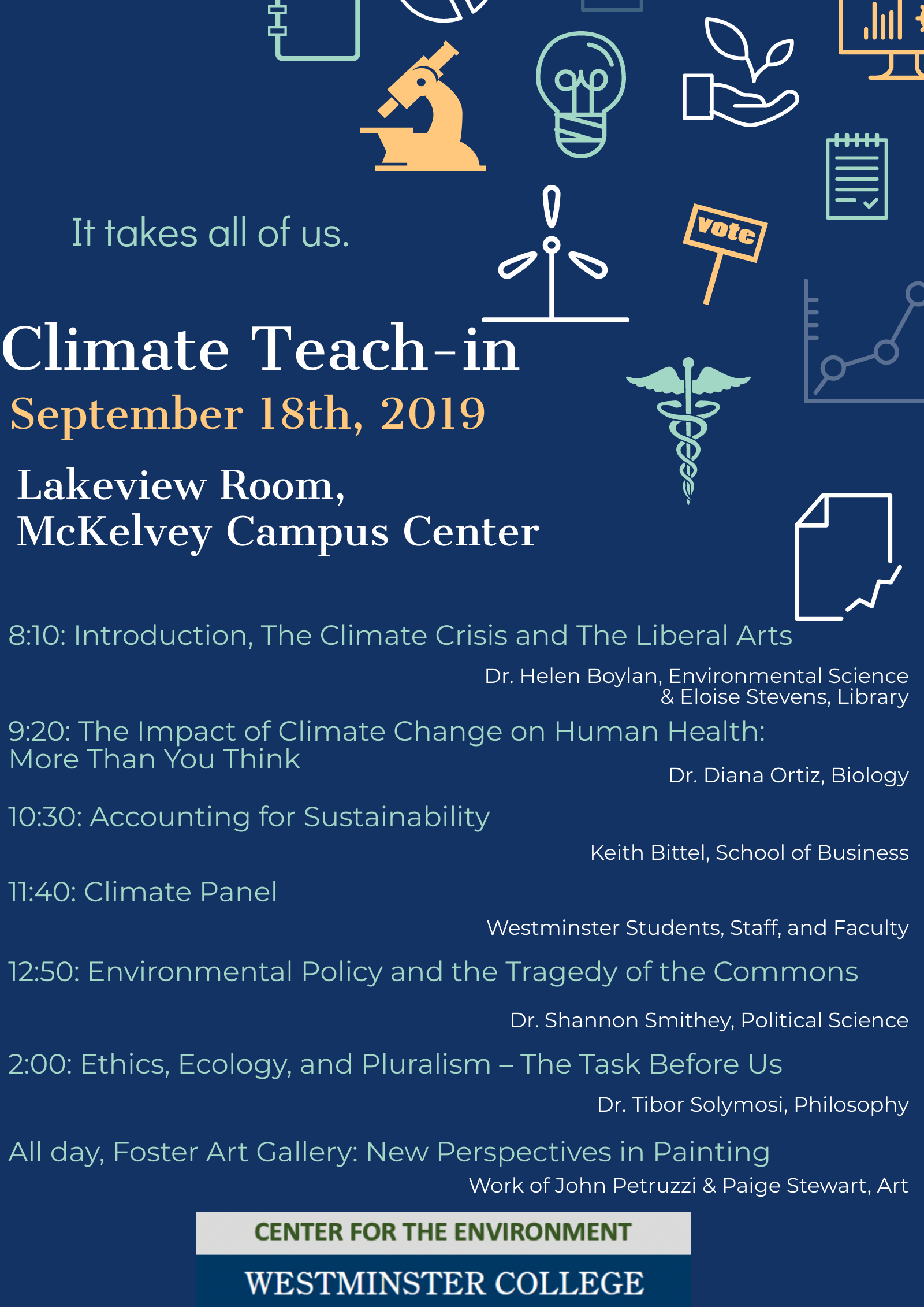 Climate teach in poster
