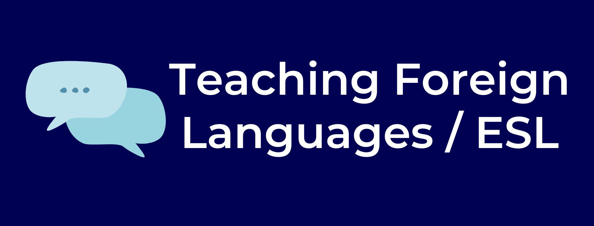 teaching foreign languages button