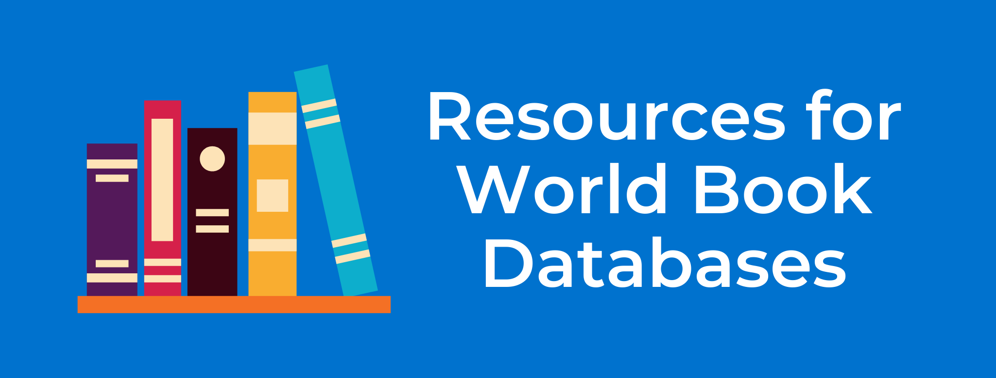 resources for world book button