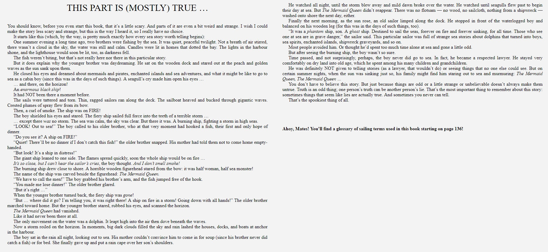Blackwells and the Briny Deep sample page 1