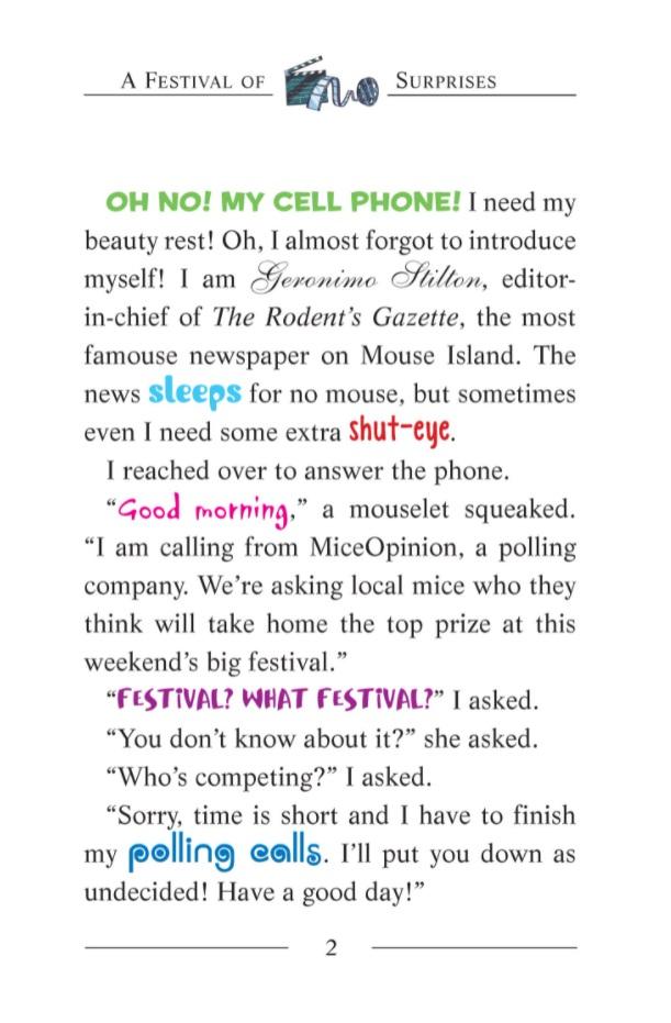 Geronimo Stilton sample page 2