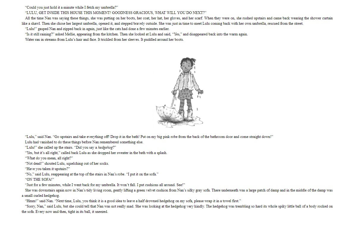 Lulu and the Hedghehog in the Rain sample page 3