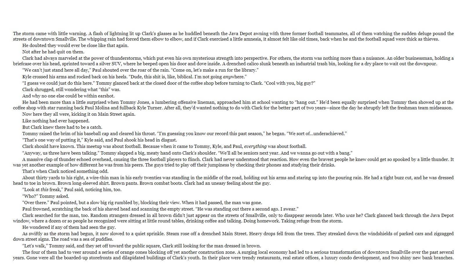 Superman Dawnbreaker sample page 1