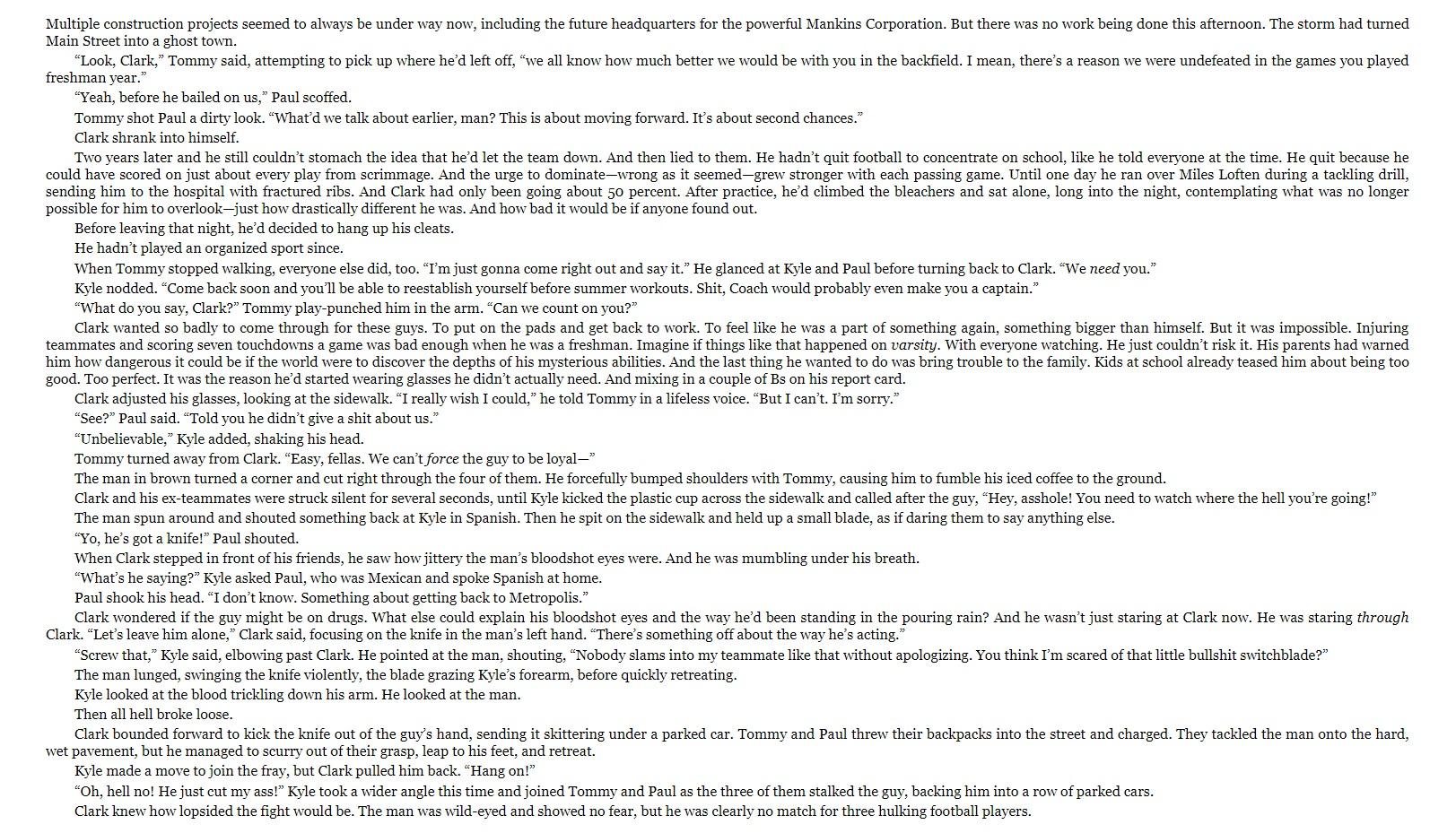 Superman Dawnbreaker sample page 2