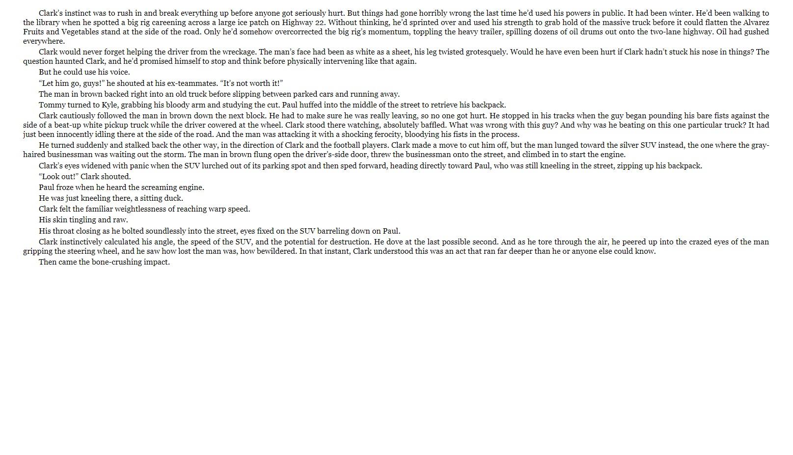 Superman Dawnbreaker sample page 3