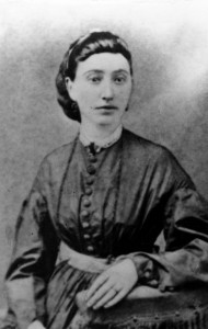 Fannie Andrews Nixon, mother of P. I. Nixon, ca. 1879, while serving as a school teacher